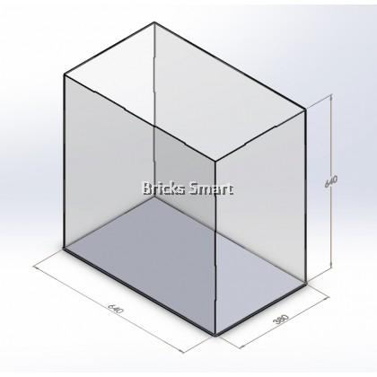 Acrylic Case with Black Base for 10247 LEGO Creator Expert Ferris Wheel