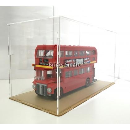Acrylic Case with Black Base for 10258 LEGO Creator Expert London Bus