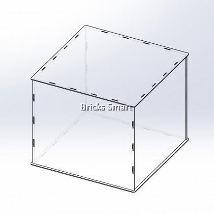Acrylic Case with Black Base for 10256 LEGO Creator Expert Taj Mahal