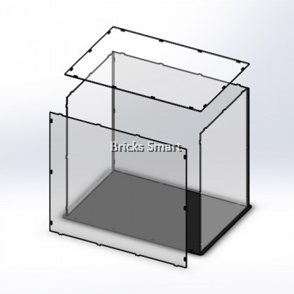 Acrylic Case with Black Base for 10261 LEGO Creator Expert Roller Coaster