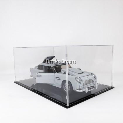 Acrylic Case with Black Base for 10262 LEGO Creator Expert Aston Martin DB5