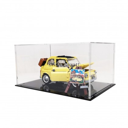 Acrylic Case with Black Base for 10271 LEGO Creator Expert FIAT 500