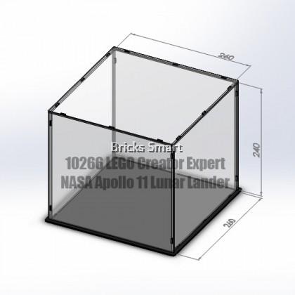 Acrylic Case with Black Base for 10266 LEGO Creator Expert NASA Apollo 11 Lunar Lander