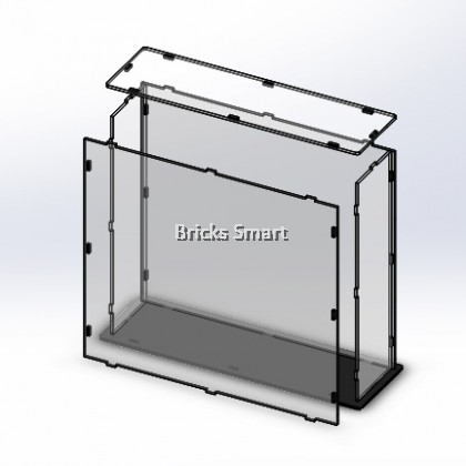 Acrylic Case with Black Base for 21027 LEGO Architecture Berlin