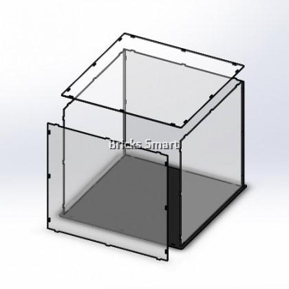 Acrylic Case with Black Base for 10270 LEGO Creator Expert Bookshop