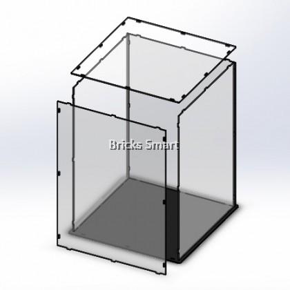 Acrylic Case with Black Base for 10264 LEGO Creator Expert Corner Garage