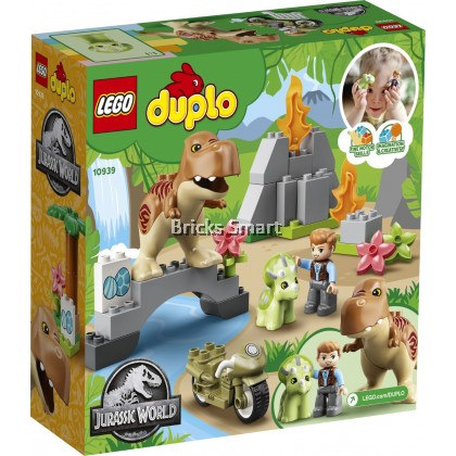 10939 LEGO Duplo T Rex and Triceratops Dinosaur Breakout