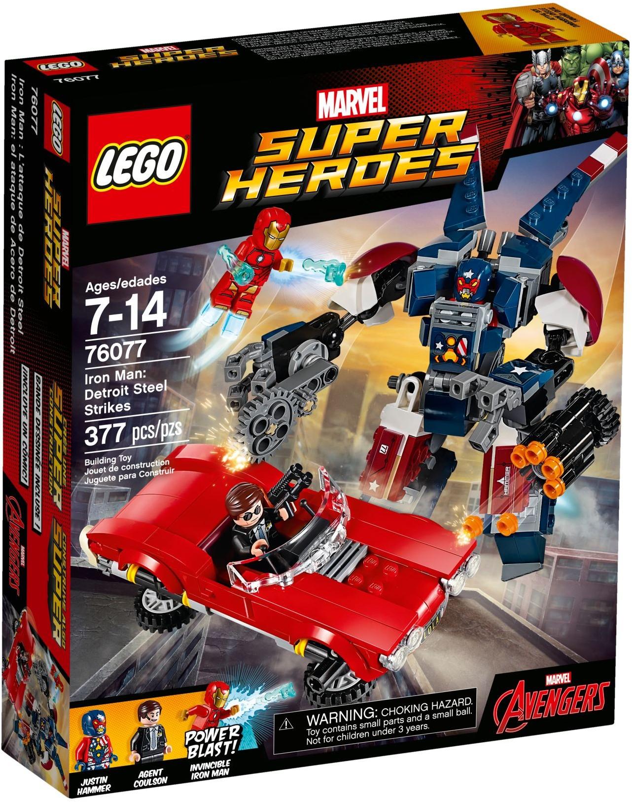 76077 LEGO Super Heroes Iron Man: Detroit Steel Strikes